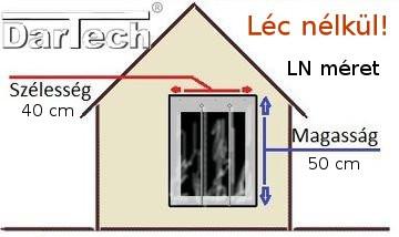 kutyaajtó léc nélkül LN 40 x 50 cm